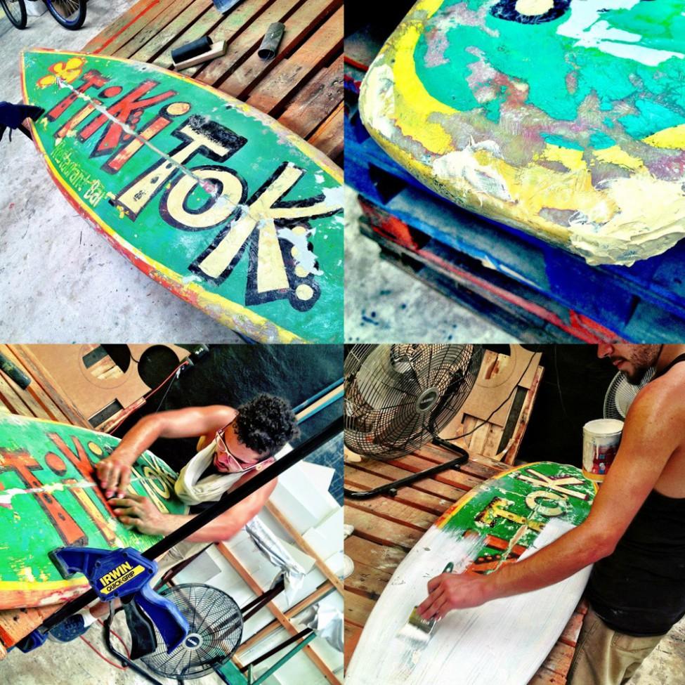 Restauración tabla Tiki Tok