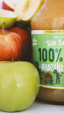Jugos naturales de manzana