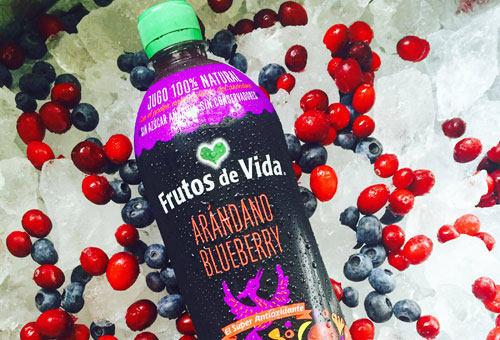Jugos saludables de arándano blueberry