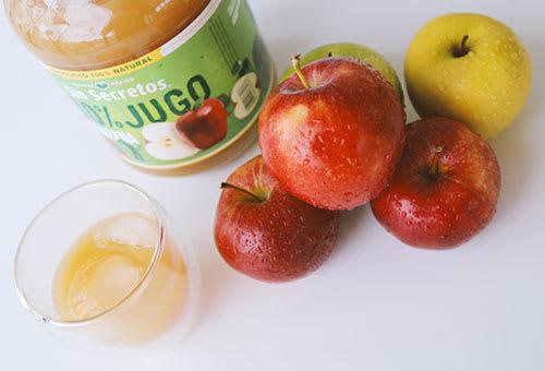 Jugos saludables de manzana