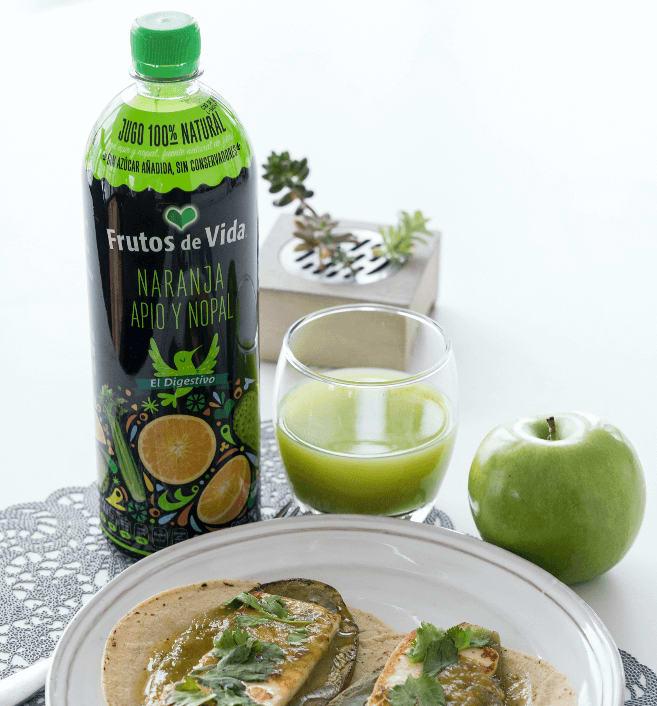jugos verdes en el desayuno