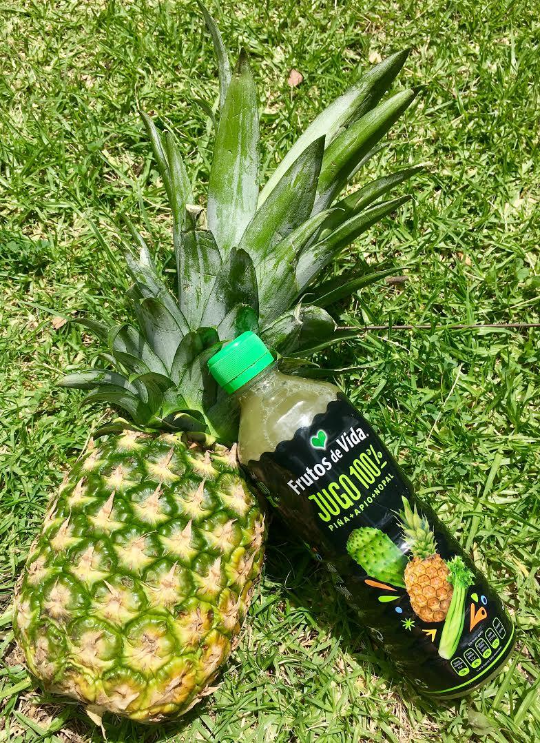 jugos verdes de piña apio y nopal