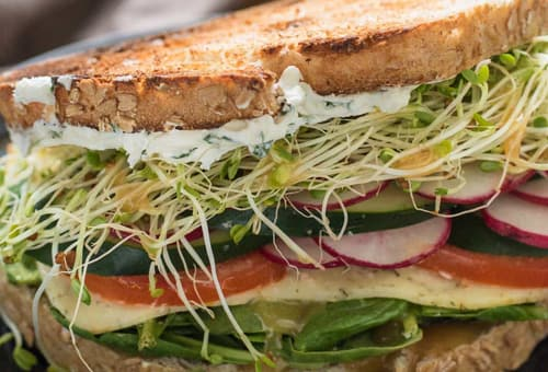 sándwich veggies