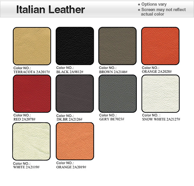 Italian Leather 2A Swatches