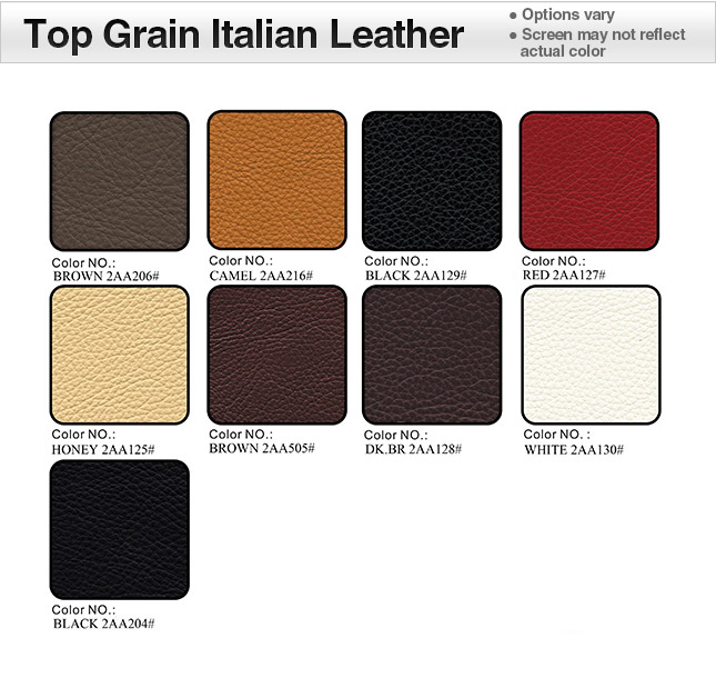 Italian Leather 2AA Swatches