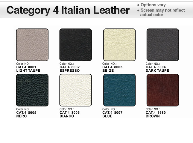 Category 4 Italian Leather Swatches