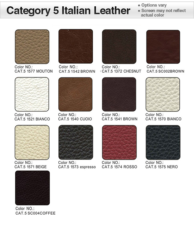 Category 5 Italian Leather Swatches
