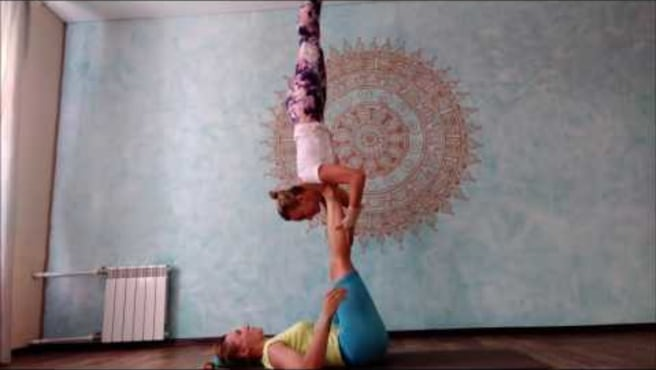 "Acroyoga. Washing  machine. ""Walking  acrobat-2"""