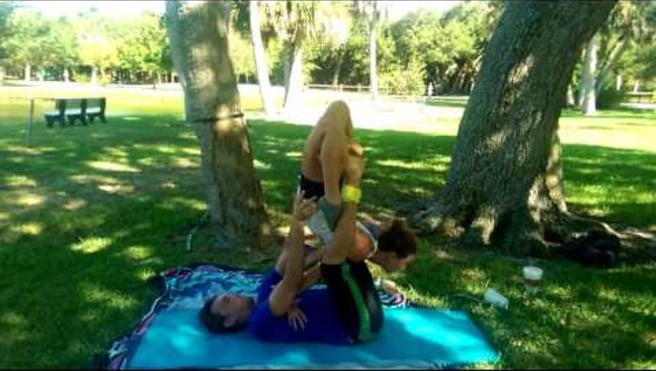 Acroyoga washing machine swimming frog with Tamin Holm and Renee Thrasher