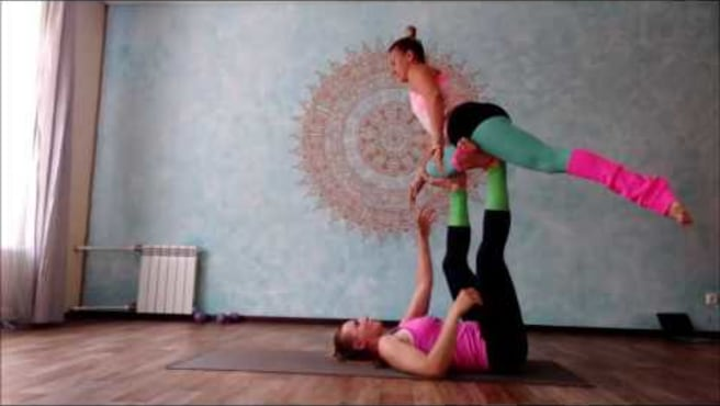 "Acroyoga. Washing  Machine  ""Reverse metamorphosis"""