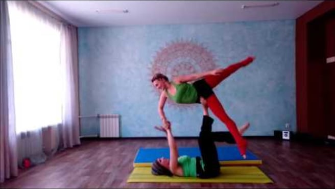 "Acroyoga. Washing machine ""Folk tale"""