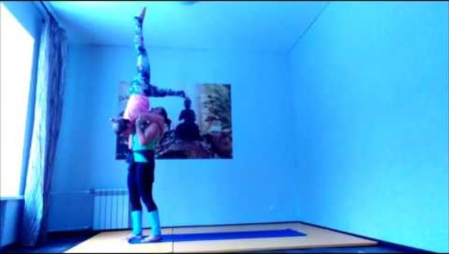 Acroyoga. The new transition to on shoulderstand