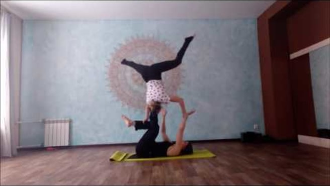 Acroyoga. New washing machine.