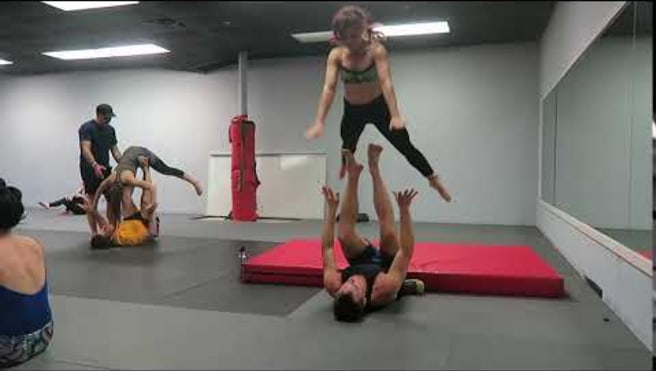 Front Plank To Throne Tosses