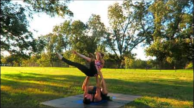 Smooth Acroyoga Whip Flow (London Spin, Muff Dive, Crochet Hook)