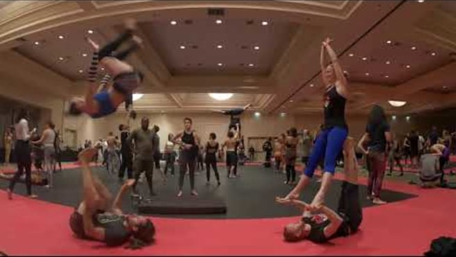Front Flips with Chalmers and Paige