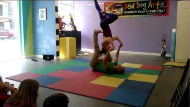 Acro Yoga -- Kids Show -- Presented by Bryan Flanders and Amy Olsen