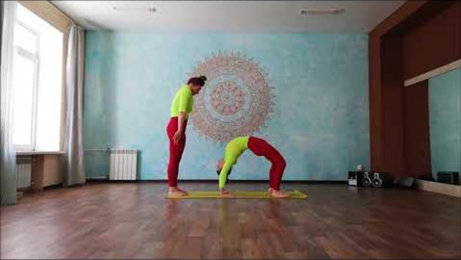 Partner yoga. Парная йога.