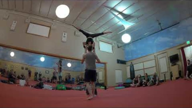Molly Jacob One Arm Shoulderstand