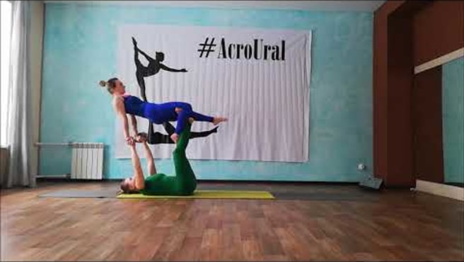 AcroYoga flow . ( AcroUral. Olga and Sveta )