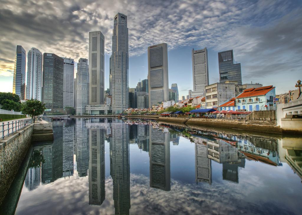 Distrito de negocios en Singapur