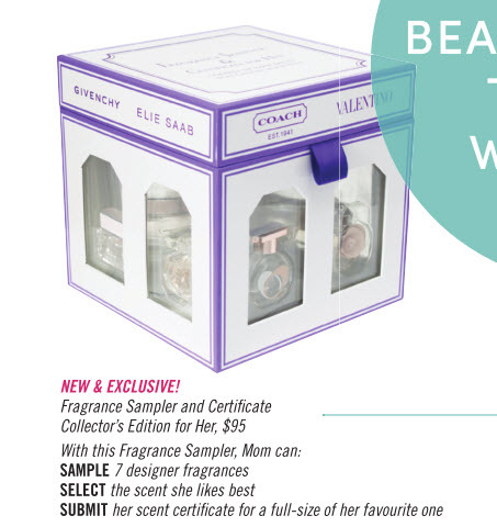 Shoppers Drug Mart: Fragrance Sampler and Certificate Collector's Edition for Her, $95