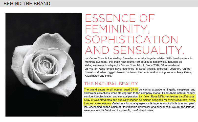 en Vie la Rose designs for every woman