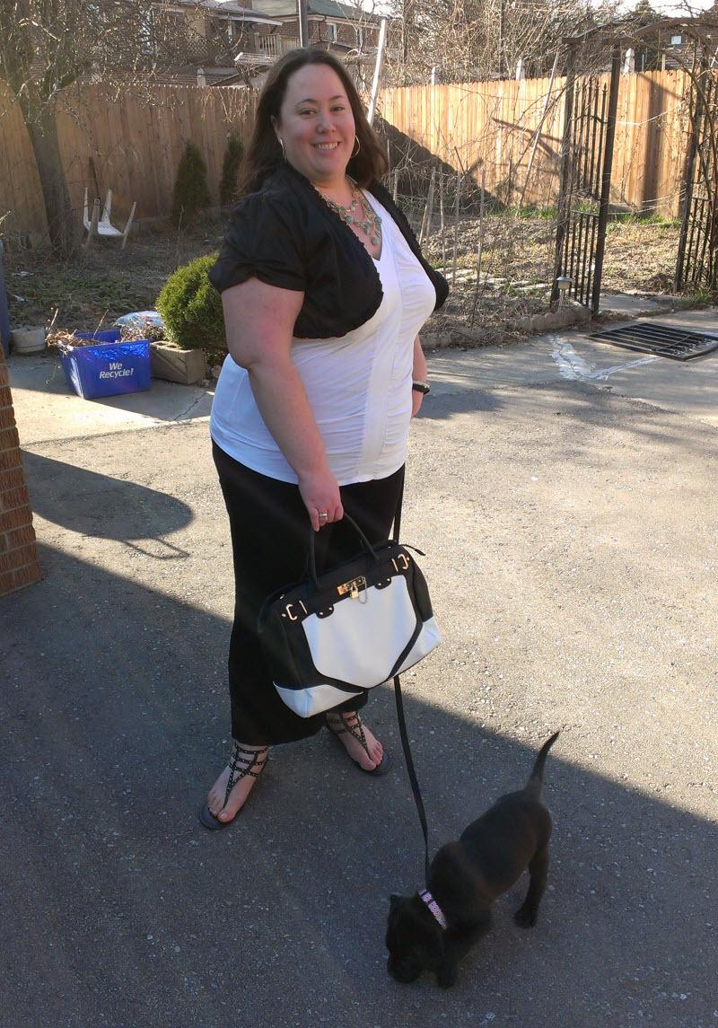 JustFab.ca Manhattan Handbag and Corfu Sandals