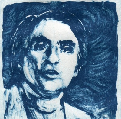 Carl Sagan solarplate etching