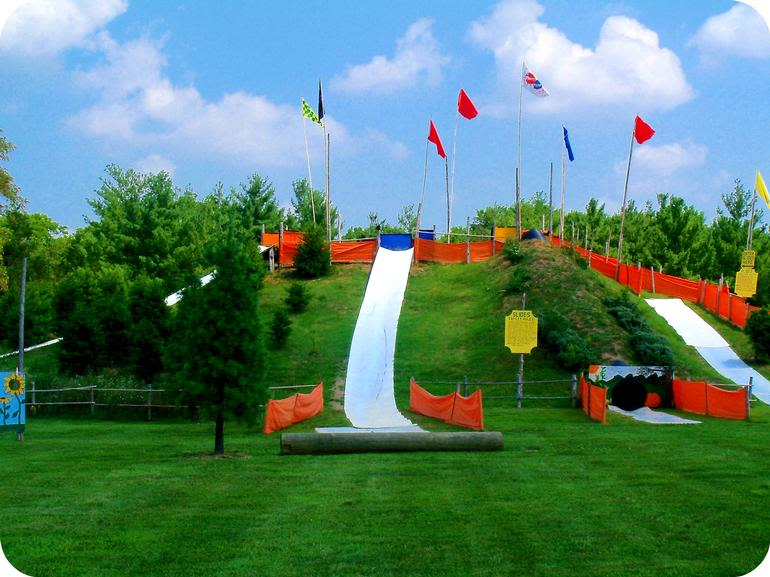 Ticonderoga Farms - Slide on down to Ticonderoga for a day filled with family-friendly activities, such as, our hillside slides!