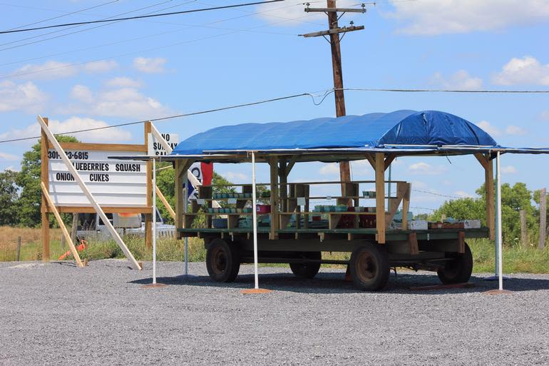 Littons Produce & Berries - Litton's Roadside Sales Wagon at top of hill