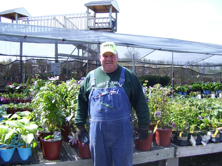 Andy T's Farm Market - Andy T with a Japanese maple