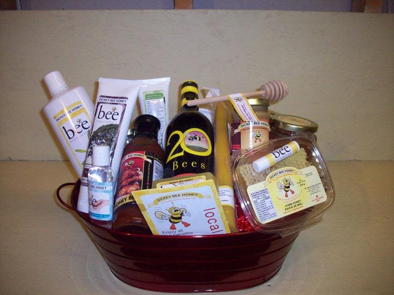 Dickey Bee Honey Inc - Custom Holiday Baskets available thru-out the year