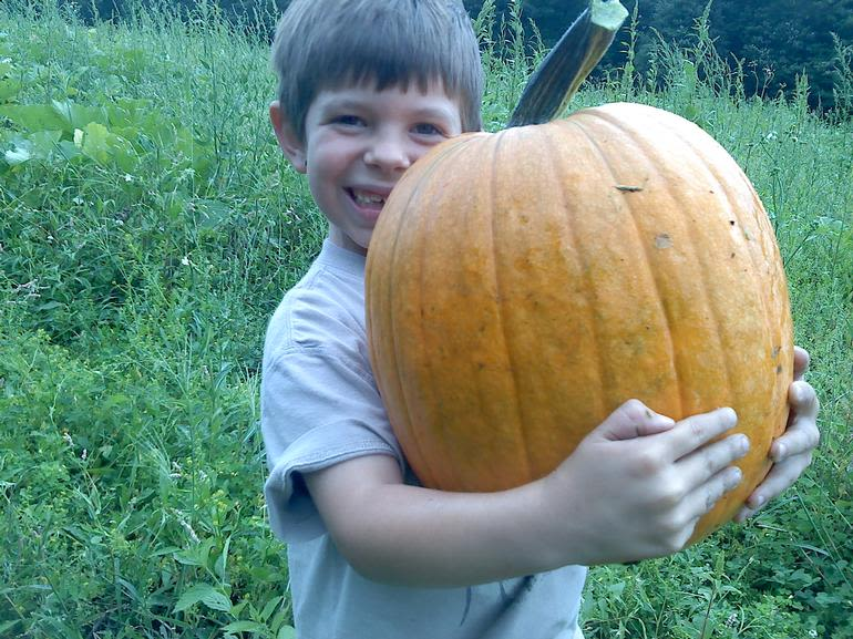Rossview Farm - My Nephew found the perfect pumpkin in the patch!