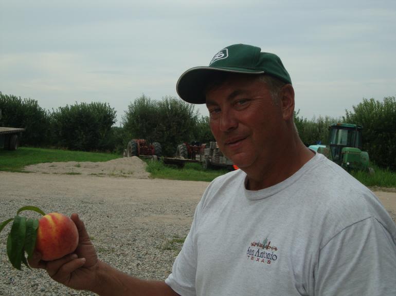"A.W. Overhiser Orchards - Farmer Al and the ""Ginat Peach"""