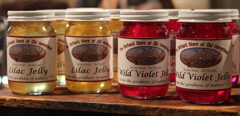Old Homestead Orchard - A selection of our Unique Homemade Flower Jelly.