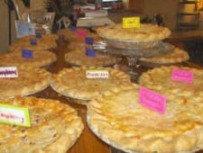 """Blueberry Hills Farms - Although we are a working blueberry u-pick farm, we've also got a fantastic restaurant that was rated """"One of the 4 top restaurants WORTH THE DRIVE FOR BREAKFAST/LUNCH from Seattle!"""" by the Seattle Times! Yay! Here's a picture of one of our homemade, handrolled fruit pies. Made with fruit from our own farm and hot out of the oven every morning. We made and sold OVER 10,500 pies in 2011 alone! Come find out what all the excitement's about!"""