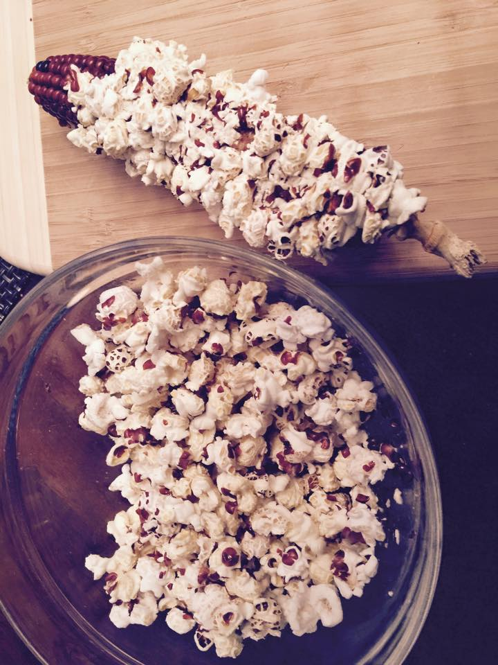 Meadow Mist Farm - MMF Heirloom Popcorn on the cob and in the bowl