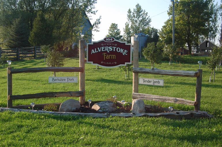 Alverstoke farm B&B - Our Farm sign located at the front of our drive way.