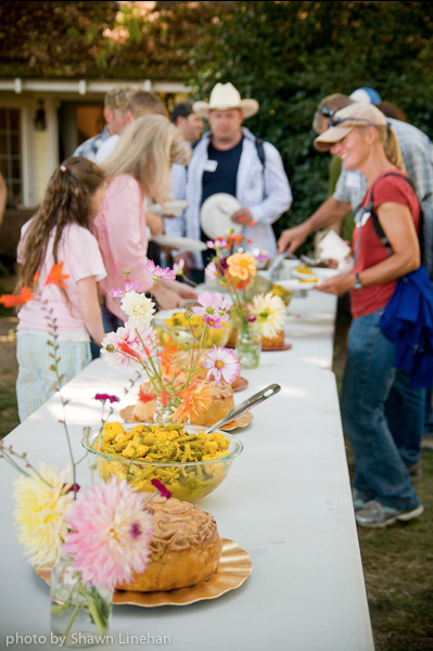 Afton Field Farm - A lunch spread during one of our many farm events.