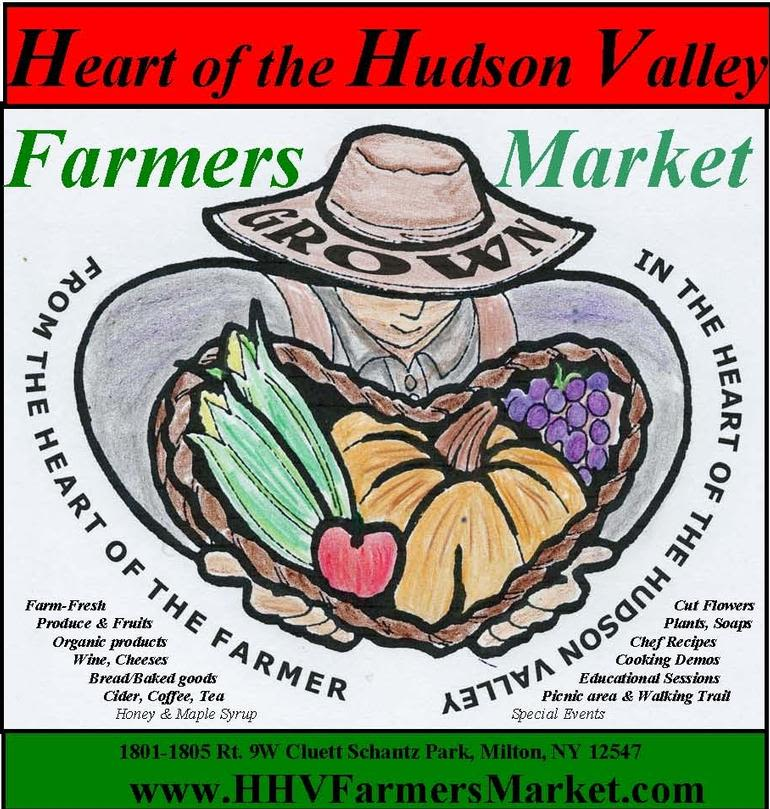 "Heart of the Hudson Valley Farmers Market - The goal of the Market is to preserve the Hudson Valley's ""rich agricultural heritage and traditions."" The Market is held on Saturdays in the summer.Buying local will help keep the Hudson Valley green with farms. It's a great time & unique shopping experience at The Market. Come visit us and CREATE A FRESH MEAL made with the market's farm-fresh products for you and your family to savor.