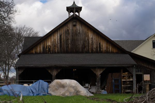 Meadow Mist Farm - Gothic Style Barn designed and built  by John P Moriarty at Meadow Mist Farm