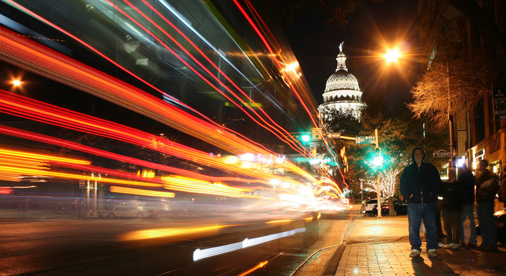 Austin, Texas Capitol at night