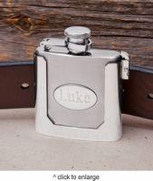 Personalized Belt Buckle Flask