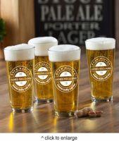 NEW Personalized Pub Glass Set - Brew Master