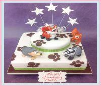 FORREST ANIMALS CAKE