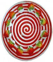 Strawberry Swirl Sponge Cake