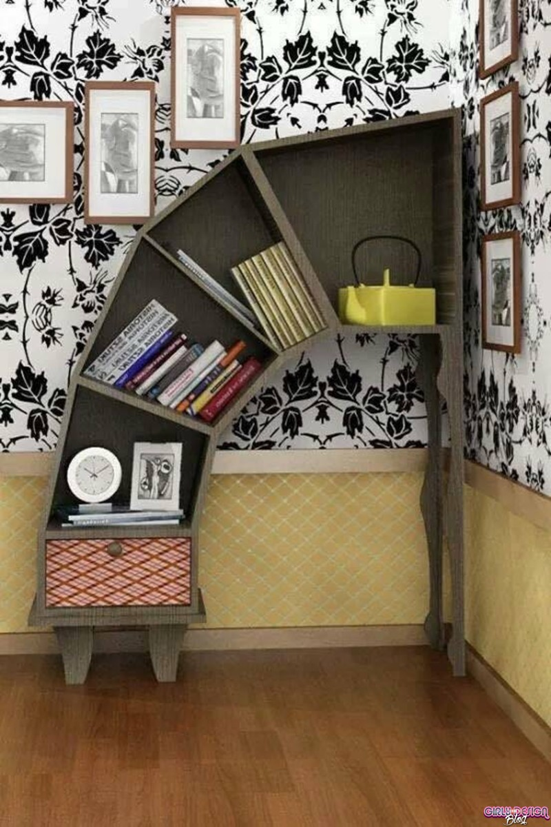 Creative Bookshelf Design : Innovative bookshelf designs girly design