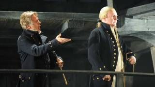 John Mark Ainsley as Captain Vere and Philip Ens as Claggart