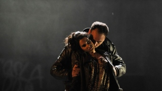 Vincenzo Taormina as Marcello and Natasha Jouhl as Musetta, La bohème, Glyndebourne on Tour 2011.